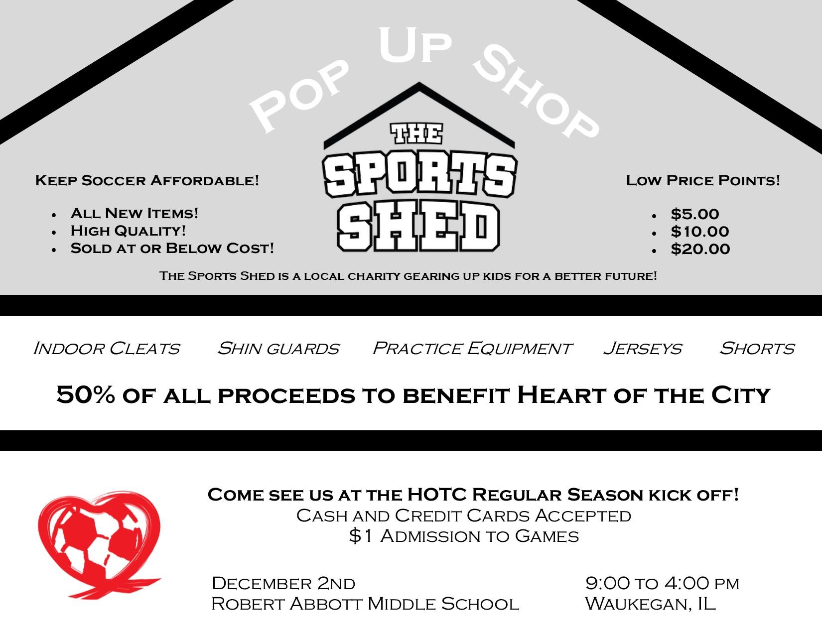 Pop Up Shop Flyer December 2nd