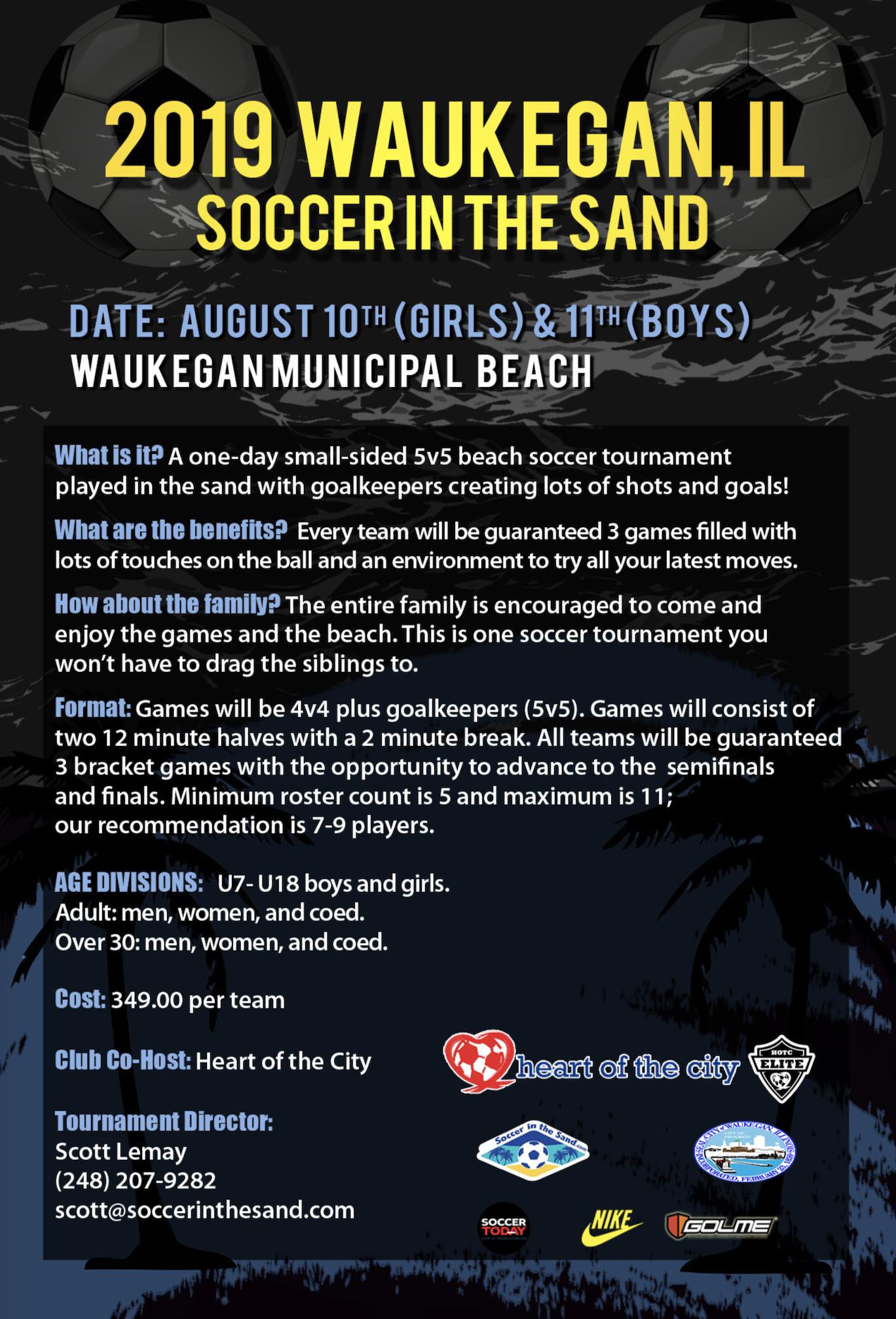 Soccer in the Sand - Back